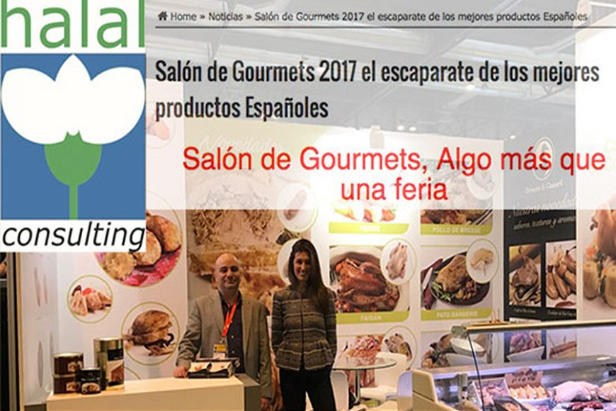 Urgasa chosen by Halal Consulting for its news about Gourmets 2017
